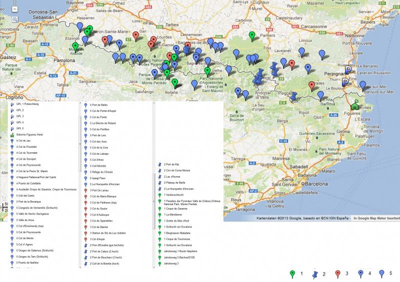 Besonere Ziele und Pässe in den Pyrenäen